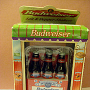 American Favorites Budweiser Salt and Pepper Six Pack Shaker Set