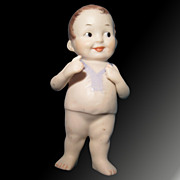 Baby Bud German Hand Painted Bisque Doll - Exquisite!