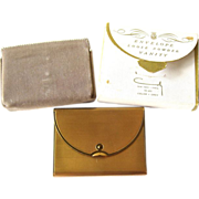 Vintage Coty Envelope Powder Compact in Original Box Unused 1950s
