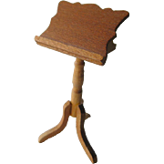 Vintage Miniature Wooden Music Stand / Dollhouse Doll Furniture / Miniature Furniture / Doll H