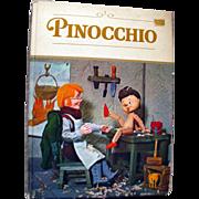 Pinocchio Vintage Puppet Book Illustrated by Tadasu Izawa and Shigemi Hijikata - 1971 Grosset