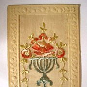 Silk Embroidered Post Card - Auntie