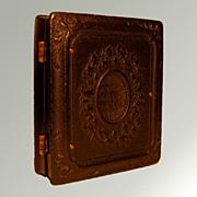 Antique Victorian Daguerreotype In Ornate Gutta Percha Union Case