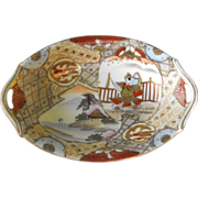 REDUCED Nippon Oval Dish Handpainted  Circa: Pre 1921