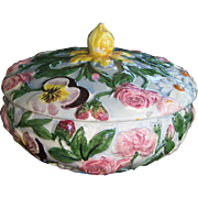 REDUCED Covered Majolica Dish