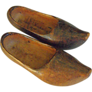 French Souvenir Wooden Shoes          Circa:1918