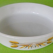 REDUCED Fire King Wheat Casserole by Anchor Hocking Circa: 1962-1966