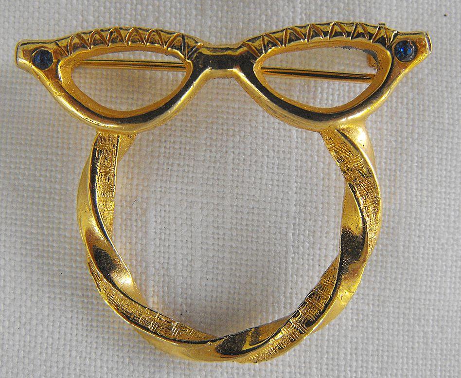 Eye Glass Pin