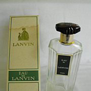 Bottle of Eau de Lanvin