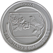Frankoma Iowa trivet or wall plaque