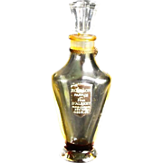 REDUCED Perfume Bottle D'Albret Ecusson                                            Circa: 1940