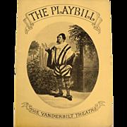 Playbill:Vanderbilt Theatre   1937