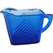Hazel Atlas: Chevron Blue pitcher                    Circa: 1930s