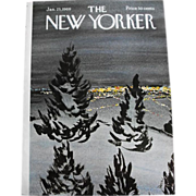The New Yorker Magazine Cover: January 25, 1969