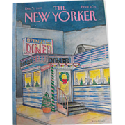 SOLD The New Yorker Magazine Cover: December 7, 1987