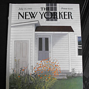 SOLD New Yorker Magazine Cover: July 15, 1985
