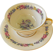Castleton China Cup and Saucer:Manor Pattern