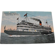 Postcard: Great Lakes Steamer: Goodrich Transit Company