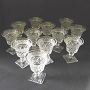 REDUCED Imperial Glass Cape Cod liquor cocktail w/wafer stem set(12)