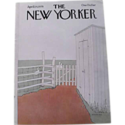 SOLD The New Yorker Magazine Cover: April 24, 1978