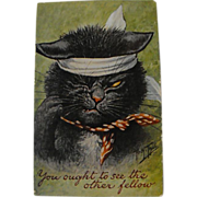 SOLD Arthur Thiele Cat Post Card....Signed