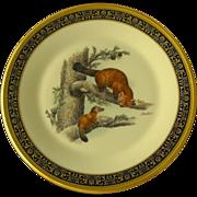 Boehm Woodland Wildlife Plate by Lenox                 1981