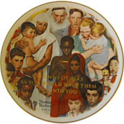 "Rockwell Collector Plate: ""Do Unto Others"" by Gorham"
