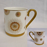 "Golden Garden Pearls GERMANY Villeroy & Boch - 3 3/8"" Coffee Mug - RETIRED"