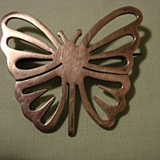 Vintage Sterling Butterfly Brooch