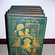 Antique Five Volumes Of The Works Of Charles Dickens