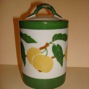 Vintage Hand Painted And Registered German Porcelain Sugar Bowl