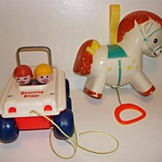 Vintage Fisher Price Bouncing Buggy And Musical Pony