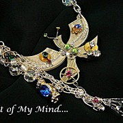 SOLD Clockwork Dragonfly ~ Out of My Mind Assemblage Necklace