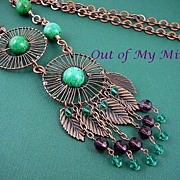 SOLD Copper Wheels ~ Out of My Mind Necklace