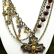 SOLD Glorious IV ~ Out of My Mind Charm Necklace