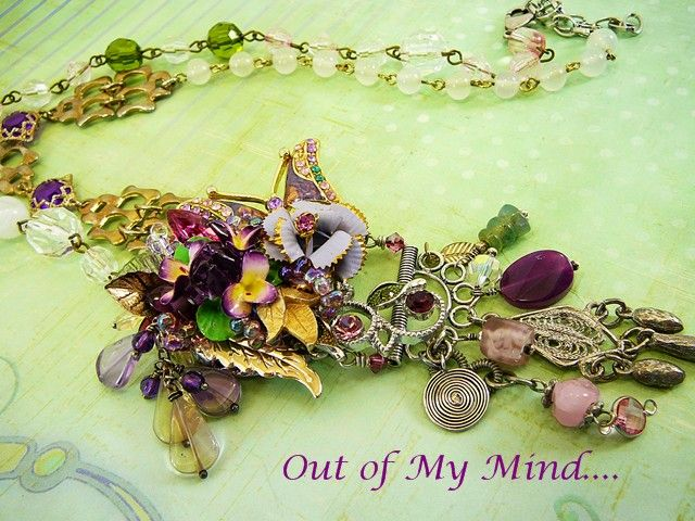 Violet Vision ~ Out of My Mind Collage Necklace