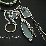 SOLD Clear as Glass ~ Out of My Mind Necklace
