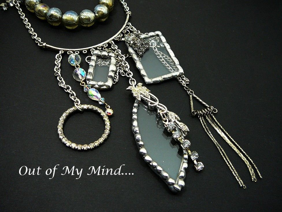 Clear as Glass ~ Out of My Mind Necklace