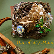 SOLD Rustic Elegance ~ Out of My Mind Collage Bracelet