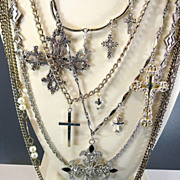 SOLD Blessed III ~ Out of  My Mind Assemblage Necklace