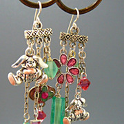 SOLD Bunny Hop ~ Out of My Mind Asymmetrical Earrings