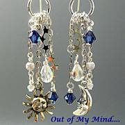SOLD Daylight to Dark ~ Out of My Mind Asymmetrical Earrings