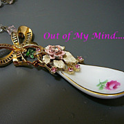 SOLD A Spoon Full of Sugar - Out of My Mind Assemblage Necklace