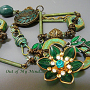 SOLD Industrial Elegance II - Out of My Mind Assemblage Necklace