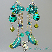 SOLD Margaritaville - Out of My Mind Earrings