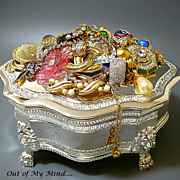 SOLD Inside Out - Out of My Mind Collage Jewelry Box