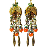 SOLD Pumpkin Patch - Out of My Mind Earrings