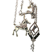 SOLD End of the Trail II - Out of My Mind Charm Necklace
