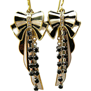 SOLD Put a Bow On It - Out of My Mind Earrings