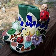 SOLD Mosaic Garden Boots